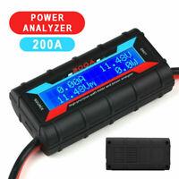 200A LCD Digital High-precision Amp Watt Meter RC Battery Solar Power Analyser