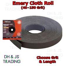 Emery Cloth Roll Fine Medium Coarse 40 60 80 120 150 Grit - Aluminium Oxide