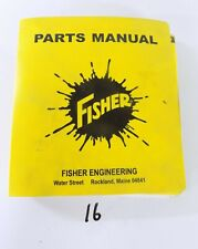 1990'S EDITION FISHER PLOW PARTS MANUAL