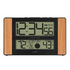 Modern Atomic Digital Clock Easy to Read with Temperature & Moon Phase 11x7 in.