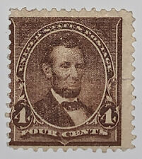 Travelstamps: 1898 US Stamps Scott #280, Mint, NG, Lincoln, 4 cent