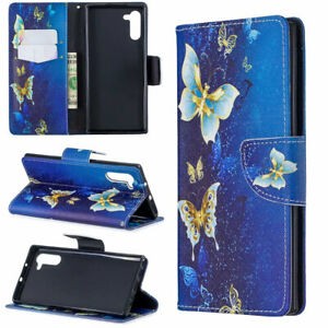 For Huawei P Smart Plus P30 P20 Painted Wallet Flip Leather Phone TPU Case Cover
