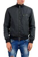 John Varvatos Star USA Men's Black Full Zip Bomber Windbreaker Jacket