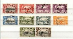 A very nice George VI Sierra leone group to 2/-