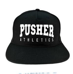 Pusher  Snapback Basecap  Brand 3D Logo Stick black