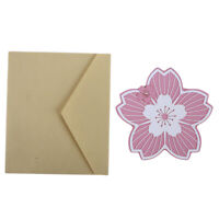 Lovely Paper Cut Greeting Card Postcard Sakura Flower Birthday Card Decor Q
