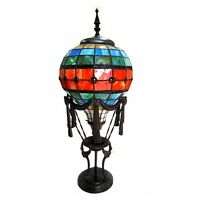 """Handcrafted NEW  Unusual Tiffany Style Stained Glass Table Desk Lamp 27"""" Tall"""