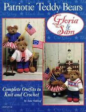 JAO Gloria & Sam PATRIOTIC TEDDY BEARS Complete Outfits to Knit & Crochet #38