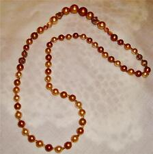 Vintage Chunky Gold Color Beads, Clear Faceted Lucite beads Necklace