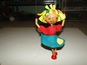 PELHAM PUPPET YELLOW HAIRED GIRL MADE IN ENGLAND