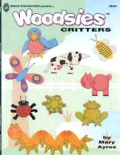 """""""Woodsies Critters"""" Kids Crafting Book to Create Animals & More with Wood Shapes"""