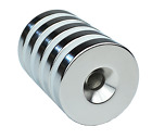 5 Pack Thicker Strong Countersunk Ring Magnets 1 Inch Large Rare Earth Neodymium