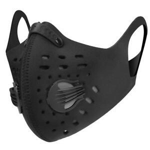 Mundschutz Maske Sport Fahrrad Atmungsaktiv Doppelventil Fahrradmaske Vanno