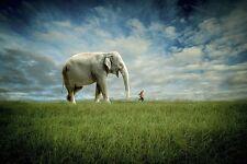 FANTASY ART PRINT Elephant Follow Me Jeffrey Madison