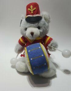 Vintage 1987 Applause Teddy Bear Drummer Boy Stuffed Plush Russ Berrie Drum