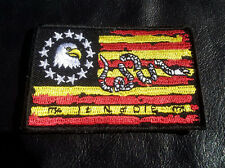 us flag join or die snakeTactical combat Patch 3 x 2 inch Hook Patch
