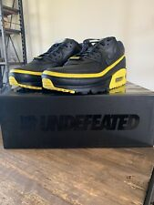 Nike Air Max 90 x Undefeated Black Optic Yellow Size 10 Men's CJ7197-001