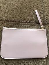 bfa287ac571 Lush Leather Zip Pouch Wallet Purse - Light Pink