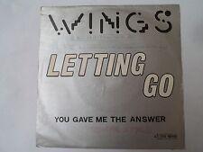 """SP 7"""" - WINGS - Letting Go - VG+/EX - CAPITOL - 4C 006-96940 - BELGIUM - 1975"""