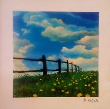 """""""Fence Line,"""" a color seriolithograph on paper, by David Najar (7 x 7 in.)"""