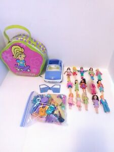 Large Mixed Polly Pocket Lot - Vintage To Modern Dolls Clothes Accessory Case