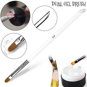 Builder & Poly Gel Double Brush UV LED #6 size Nail Extension Painting Manicure