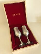 Royal Selangor Pewter Champagne Flutes - Set of 2 with Original Wooden Box