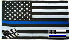 Wholesale 3x5 Police USA Memorial Flag Decal Sticker Memorial Lapel Pin Set 5