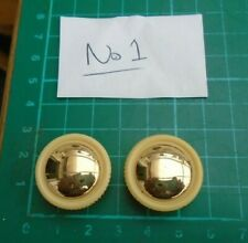 repro bulgin/selmer control knobs x 2 dark cream & 'Gold' B grade stock #1