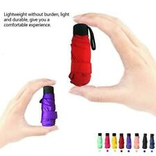 Super Mini Pocket Compact Umbrellas Sun Anti UV 5 Folding Windproof Travel Z2J3