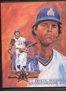 1980 Seattle Mariners vs Baltimore Orioles MLB Baseball Program Scorecard 999335