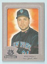 MIKE PIAZZA 2003 DIAMOND KINGS FRAMED SILVER FOIL JERSEY # 31/400