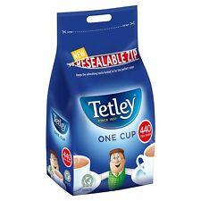 Tetley Tea Bags 440 One Cup Black Tea, Resealable Zip Bag