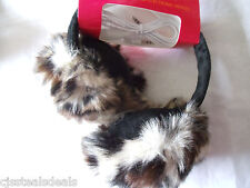 Cheetah Faux Fur Earmuffs Warmers Headphones Compatible MP3 Smartphone Laptop