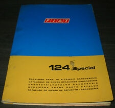 Spare Part Catalogue Body Fiat 124 Special-June 1970