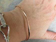 10 KT Rose Pink Gold Round Slip On Bangle Bracelet NEW 2.5 mm in Thickness NEW