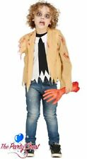 BOYS AMPUTATED ARM ZOMBIE COSTUME Walking Dead Halloween Fancy Dress Outfit 7435