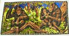 "Lebanon Tapestry CHIMPANZEES 20"" X 38"" PTC RAYON"