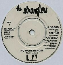 "THE STRANGLERS - NO MORE HEROES 7"" Vinyl Rare 1977 UK Single Black Label Print"