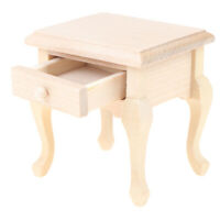 1/12 Dollhouse Miniature Wooden Bedroom  Bedside Cabinet Furniture Accessor_QA