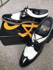 Stacy Adams Men's Dress Shoes Dayton Black & White Wing Tip Brogues UK 11 US 12
