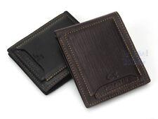 Purse Money Mens Bifold Genuine Leather ID Black Credit Wallet Pockets Card AU