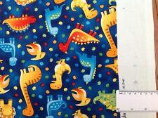 Print fabric(Dino walk all over) Per meter