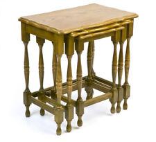 3 Satztische Beistelltisch Holz Set aus 3 Beistelltischen Eiche oak table set