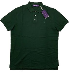 Ralph Lauren Purple Label Dark Green Cotton Polo Shirt Large Made in Italy