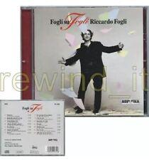 """RICCARDO FOGLI """"FOGLI SU FOGLI"""" RARO CD 1996 (I POOH)"""