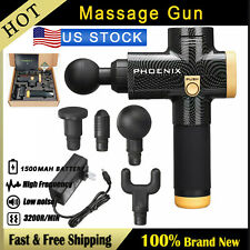 Carbon Fiber Percussive Vibration Therap Massage Gun Athlete Sports Recovery .