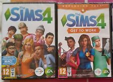 THE SIMS 4 + GET TO WORK EXPANSION PC DVD-ROM GAMES new & sealed UK BOX VERSIONS