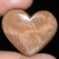 117.70 Cts Natural Peach Amazonite Beautiful Heart Shape Huge Cabochon Gemstone