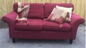 Laura Ashley Sofa gorgeous Raspberry brocade fabric.